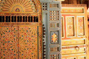 Moroccan wood art